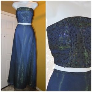 Dave & Johnny two piece evening gown 9-10